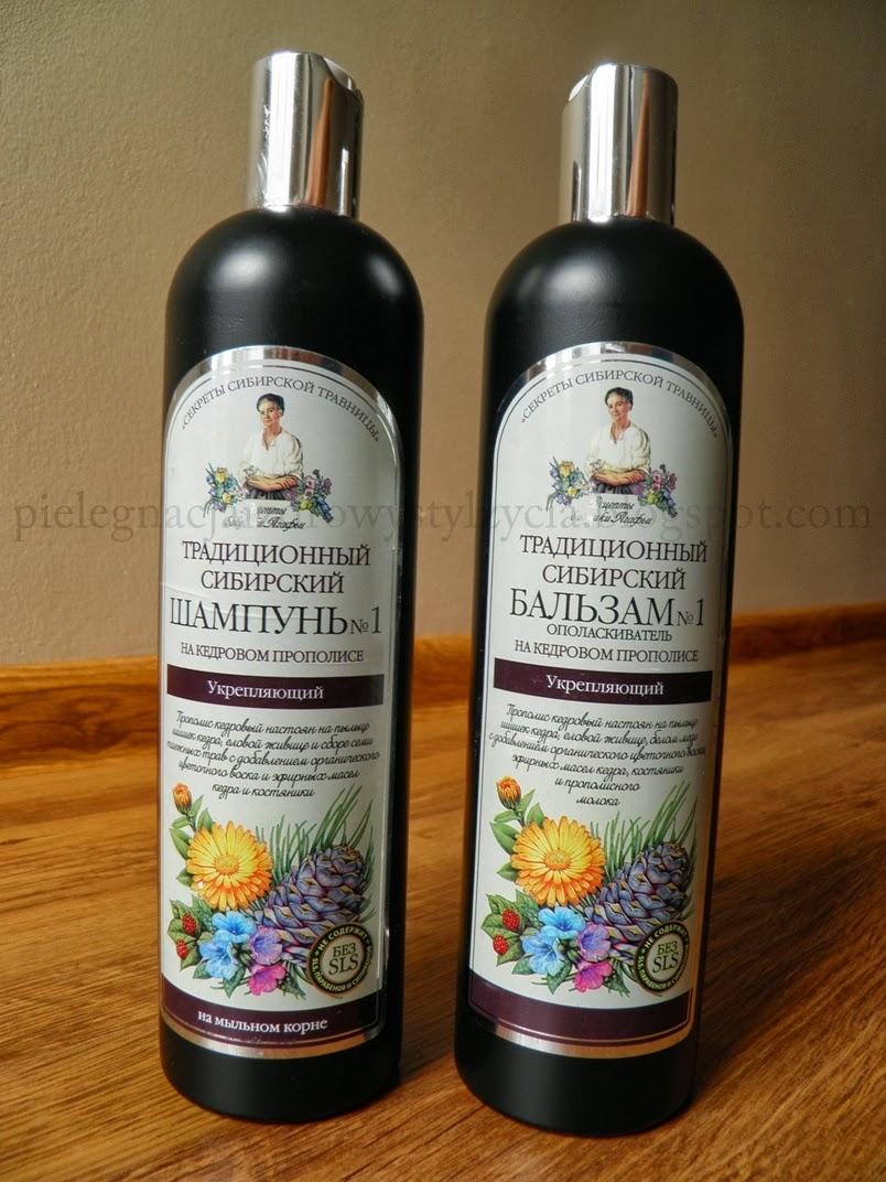 Balsam i szampon na cedrowym propolisie Receptury Babuszki Agafii