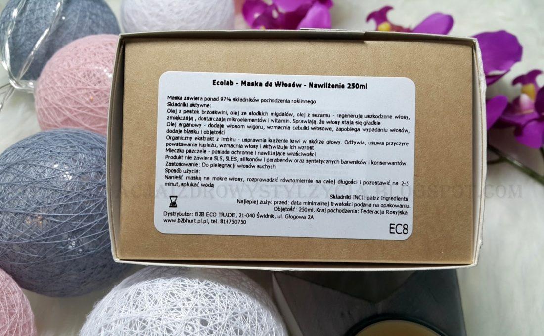 Ecolab maska do włosów nawilżająca opinie, blog