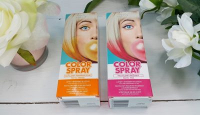 Joanna Color Spray opinie pastelowy różowy i pomarańczowy