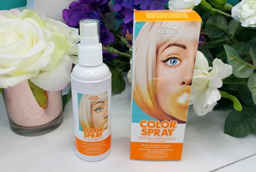 Joanna Color Spray pomarańczowy opinie