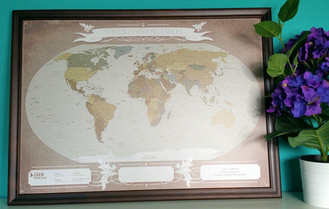 Personalizowana Mapa Podróży Świat My Gift Dna