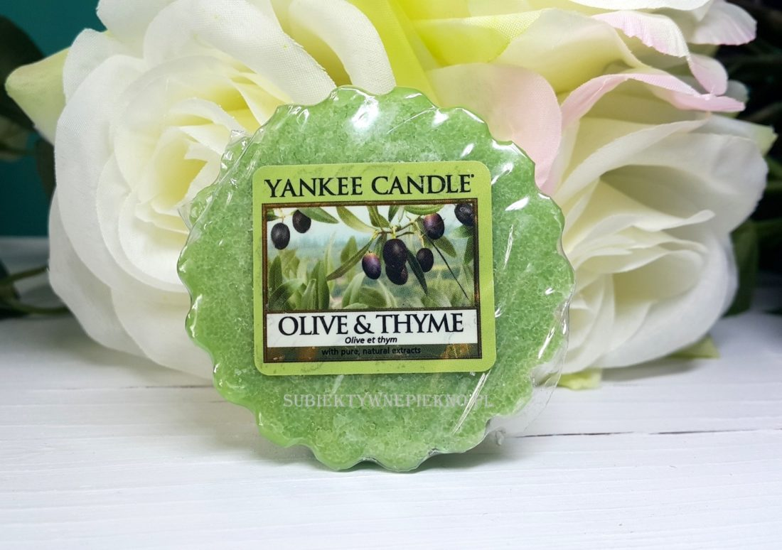 Wosk zapachowy Olive & Thyme Yankee Candle. Blog, opinie.