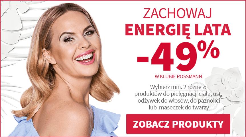 Rossmann promocja -49% Zachowaj Energię Lata sierpień 2017