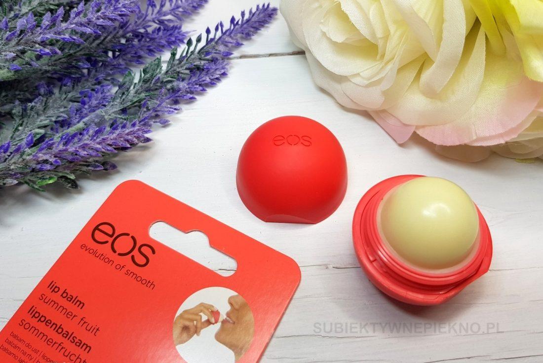 Balsam ochronny do ust ze świetnym składem | Jajeczko EOS Summer Fruits. Blog, opinie.