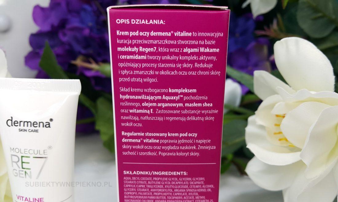 przeciwzmarszczkowy krem pod oczy dla skóry dojrzałej dermena vitaline działanie