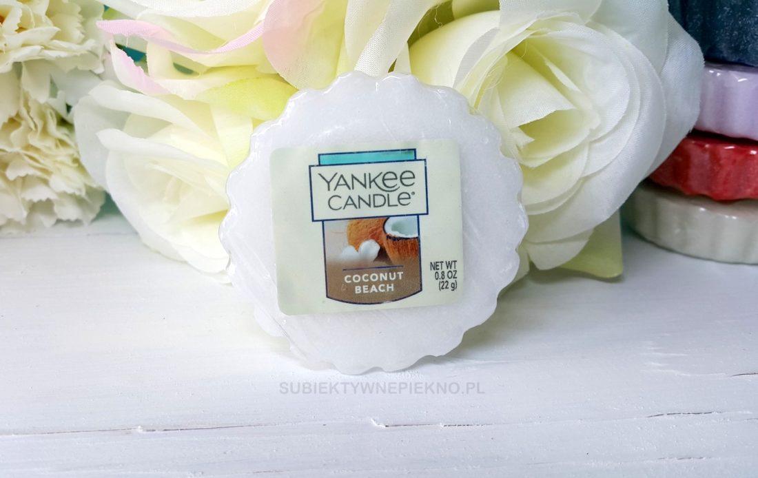 wosk zapachowy coconut beach yankee candle. Zapach niedostępny w Polsce. Opinie, blog.