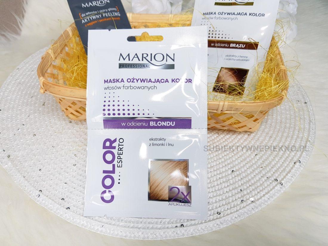 Marion maska ożywiająca kolor włosów blond opinie