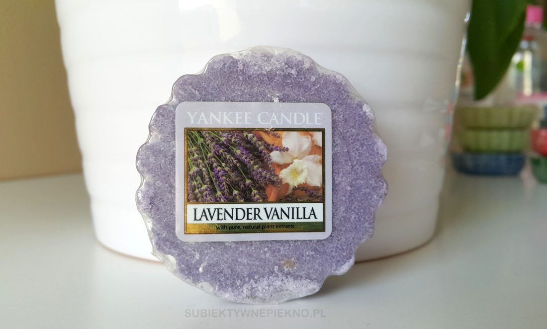 Wosk zapachowy Lavender Vanilla Yankee Candle - blog, opinie