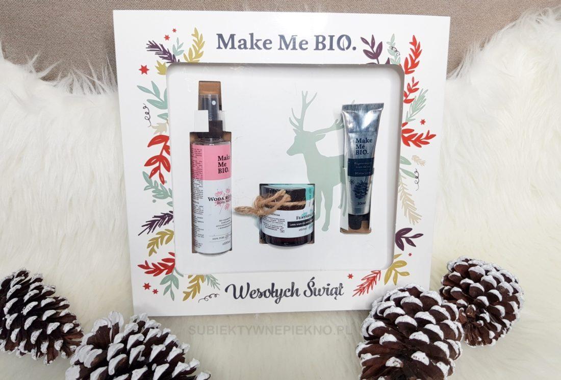 Świąteczny zestaw prezentowy Make Me Bio - krem do twarzy, krem do rąk, woda różana