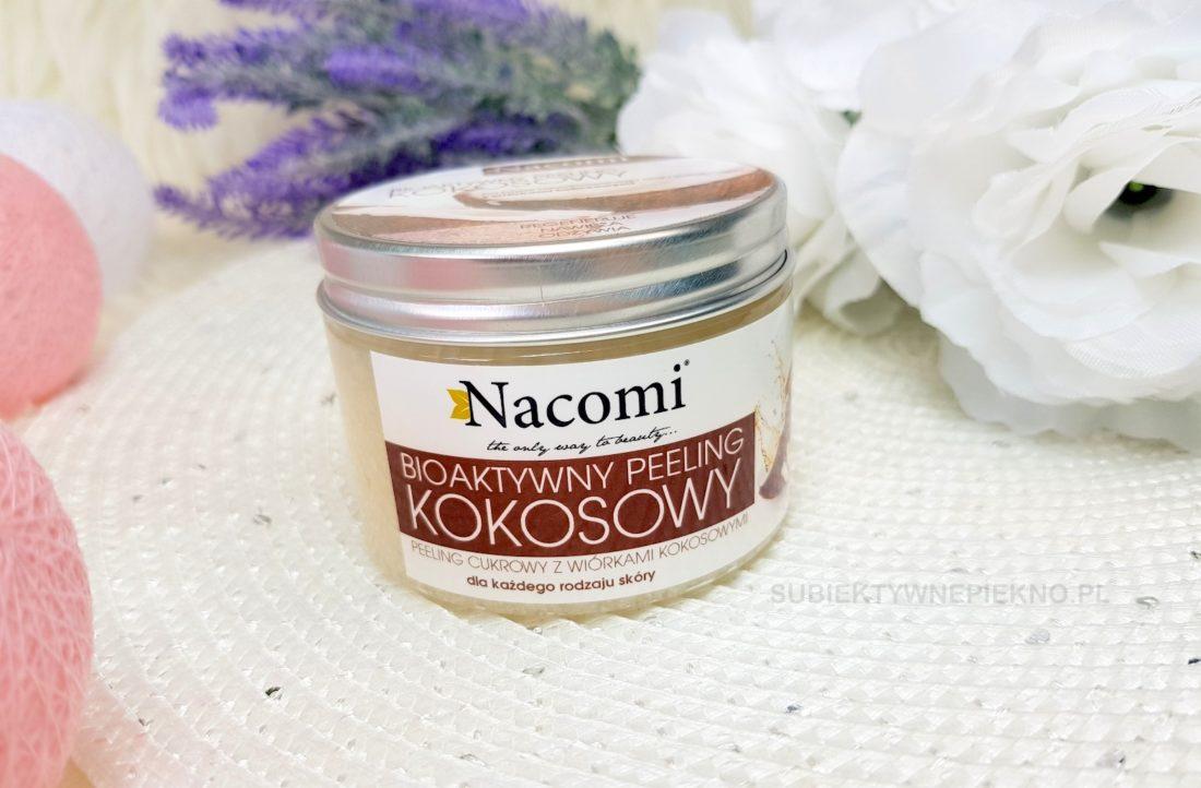 Bioaktywny peeling kokosowy Nacomi z olejem kokosowym, cukrem i wiórkami kokosowymi