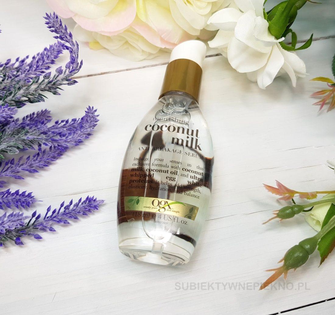 Organix serum Coconut Milk opinie - wzmacniające serum do włosów OGX