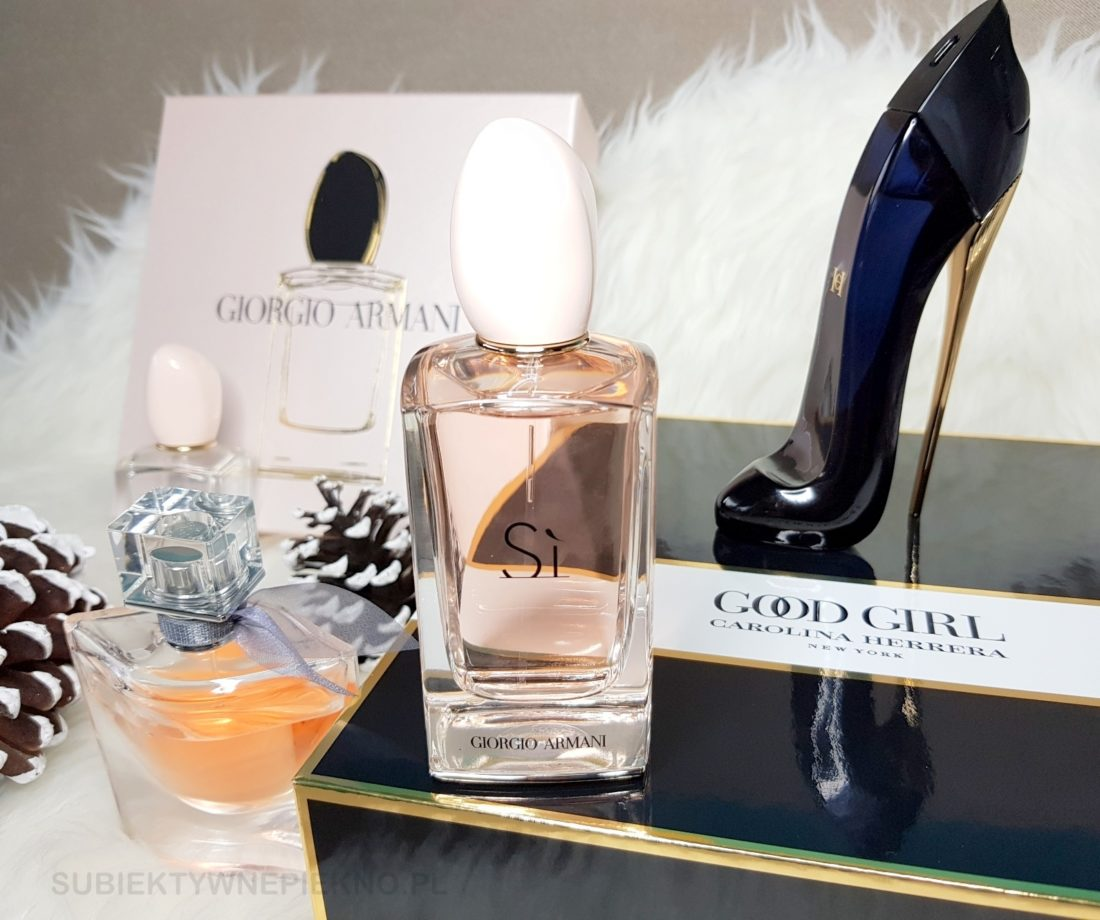 Pomysły na droższe, ekskluzywne prezenty - oryginalne, markowe perfumy Si, La Vie Est Belle, Good Girl