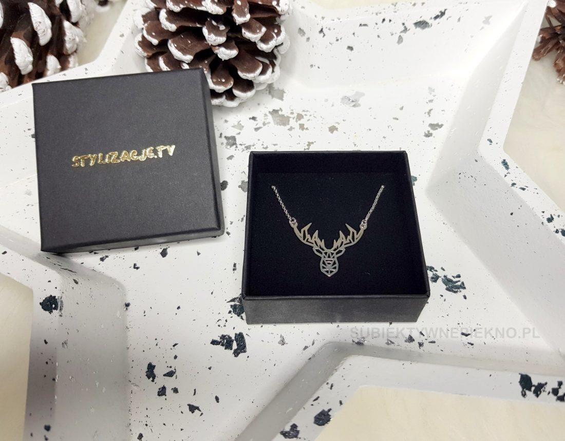 Pomysły na prezenty świąteczne do 100zł - srebrna biżuteria stylizacje.tv naszyjnik jeleń