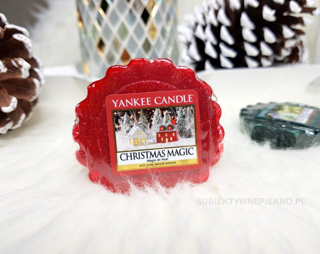 Wosk zapachowy Christmas Magic Yankee Candle - świąteczna, zimowa kolekcja Q4 2017. Blog, opinie.
