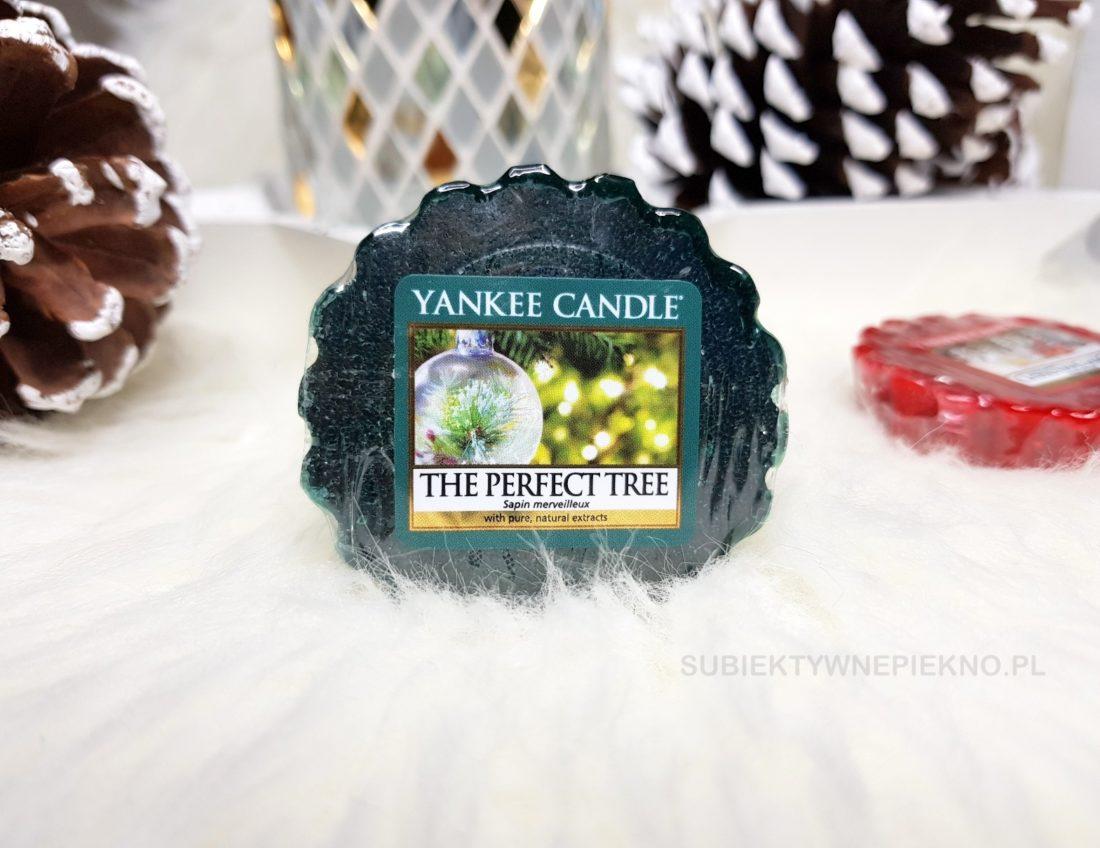 Wosk zapachowy The Perfect Tree Yankee Candle. Zimowa kolekcja Q4 2017. Blog, opinie.