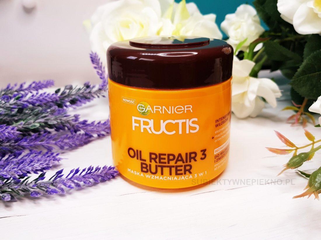 Wzmacniająca maska do włosów Garnier Fructis Oil Repair 3 Butter opinie.