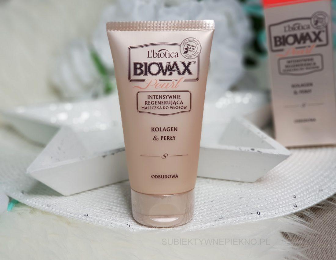 Intensywnie regenerująca maska do włosów L'Biotica Biovax Pearl Kolagen i perły opinie