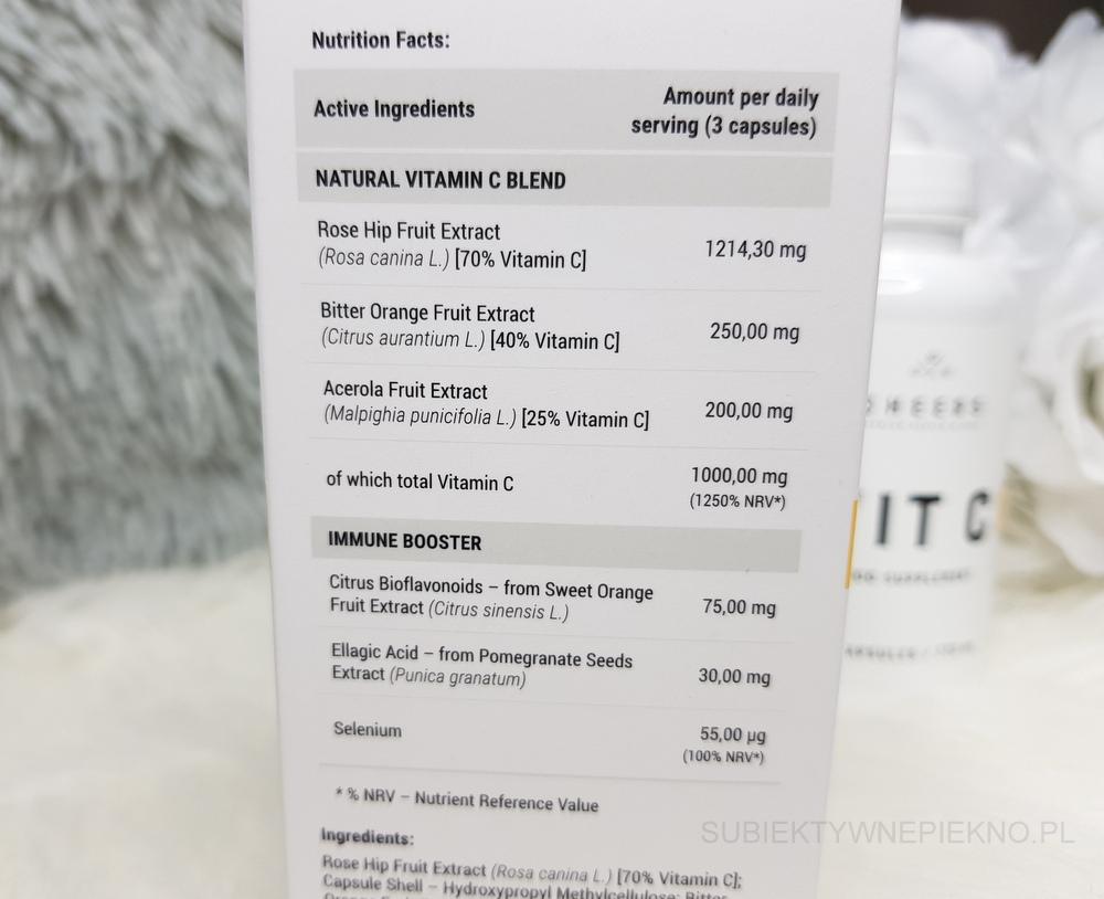 Naturalna witamina C Cheers Premium Health & Care - działanie, opinie, blog