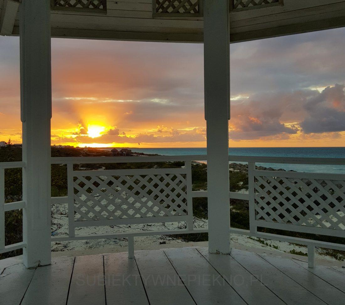 Kuba Cayo Santa Maria - piękny zachód słońca