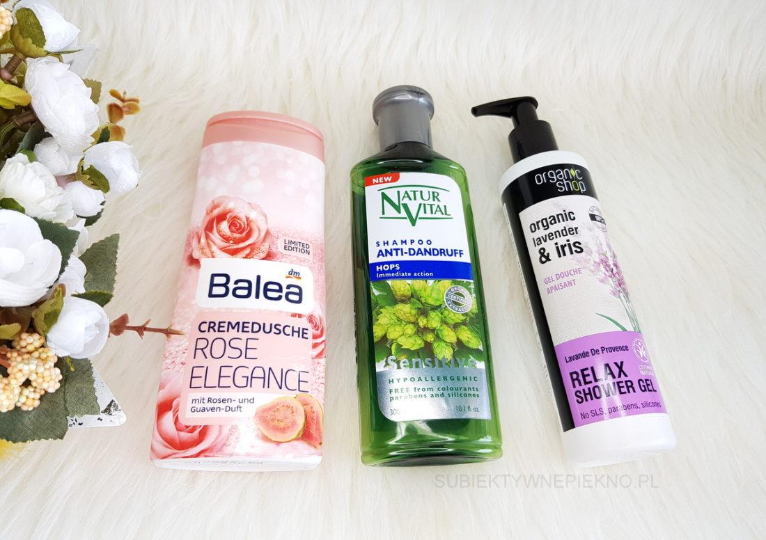 DENKO KWIECIEŃ 2018 - żel Balea i Organic Shop, szampon chmielowy Natur Vital