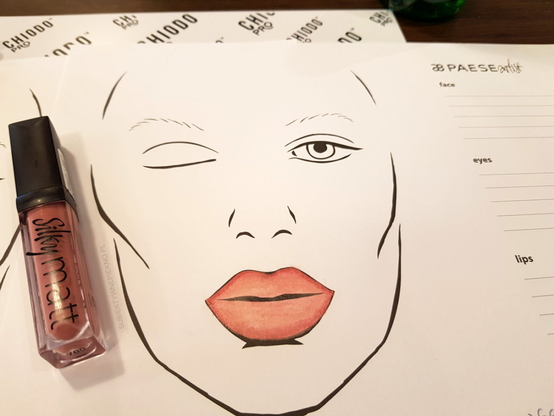 Warsztaty blogerskie Beauty by Bloggers - face chart Paese
