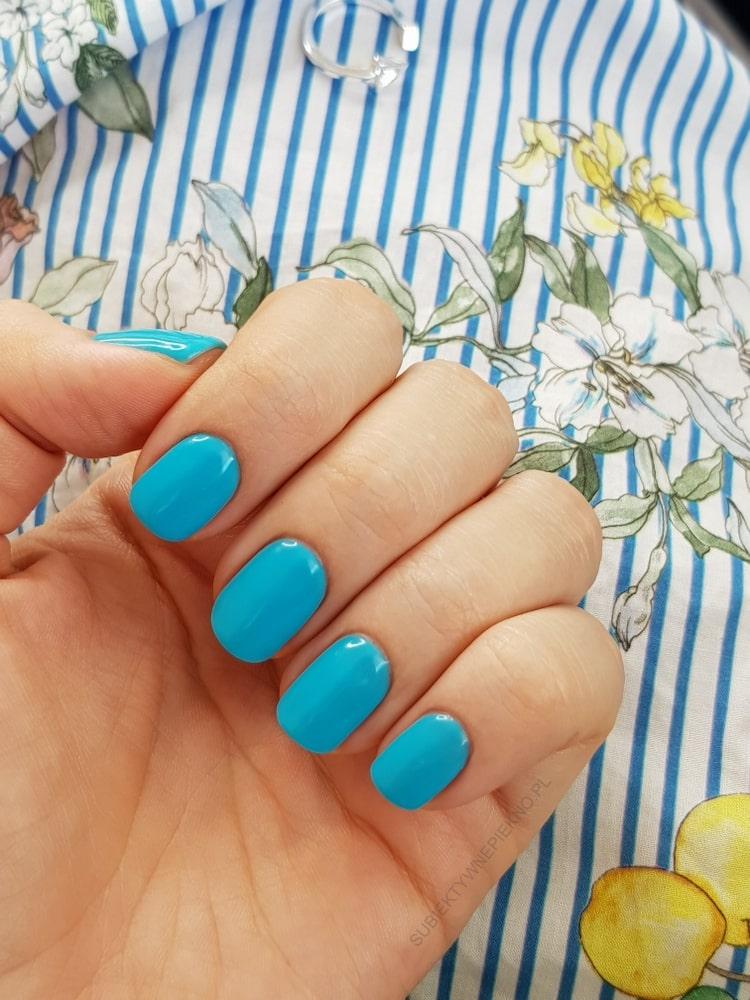 DELICATE BLUE SEMILAC 523 swatche na paznokciach, opinie