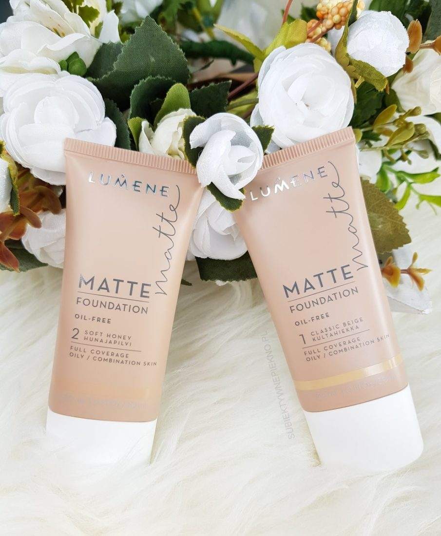 Podkład LUMENE MATTE FOUNDATION 1 Classic Beige i 2 Soft Honey