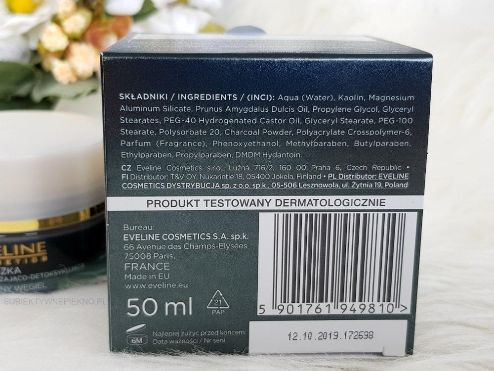 Eveline Facemed+ maseczka z aktywnym węglem - skład, opinie