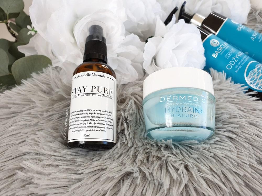 Ulubieńcy wrzesień 2018: olejek Annabelle Minerals Stay Pure, krem Dermedic Hydrain3