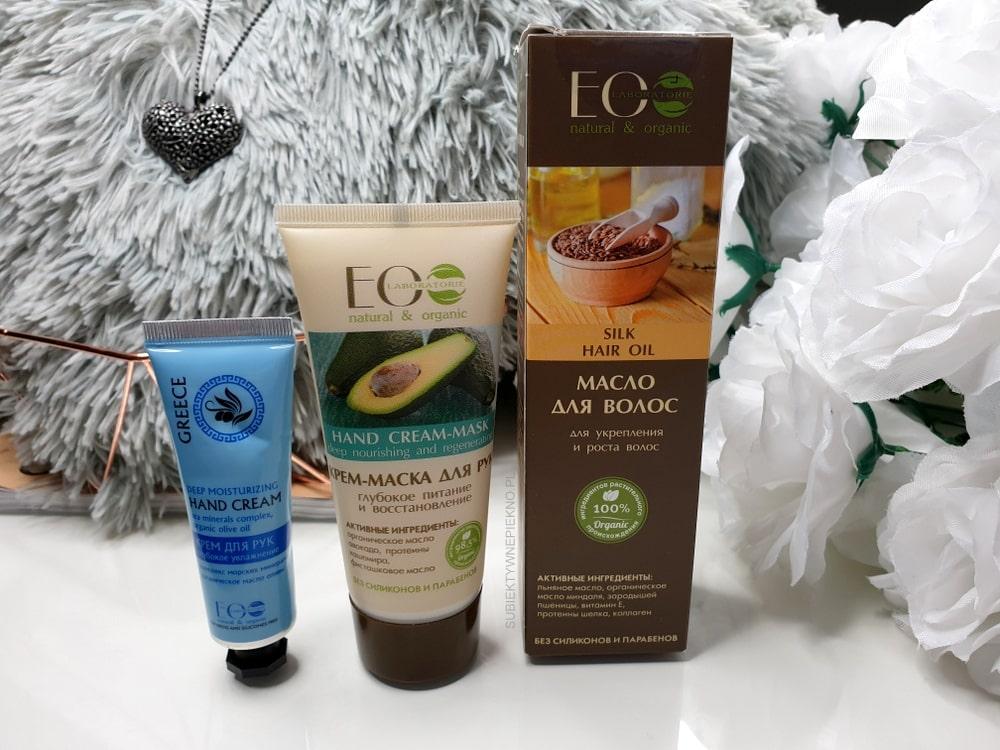 Ecolab - krem do rąk z awokado, olejek do włosów z jedwabiem