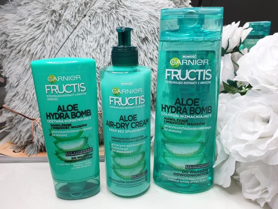 ALOE HYDRA BOMB GARNIER FRUCTIS - odżywka, szampon i krem bez spłukiwania Aloe Air-dry Cream opinie