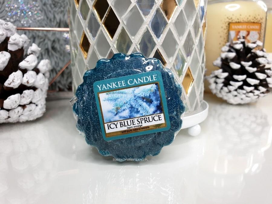 YANKEE CANDLE ICY BLUE SPRUCE blog, opinie - zimowa kolekcja Q4 2018