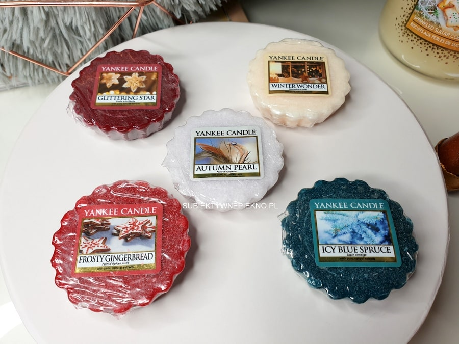 Yankee Candle Glittering Star, Winter Wonder, Frosty Gingerbread, Autumn Pearl