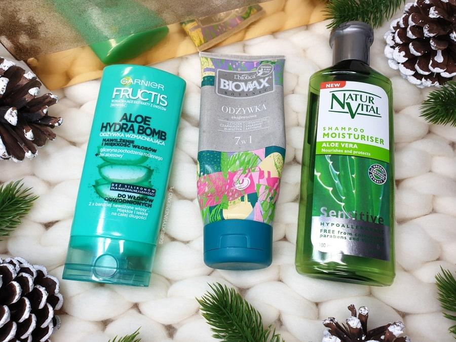 DENKO GRUDZIEŃ 2018 - Garnier Aloe Hydra Bomb, Biovax odżywka 7w1, szampon Natur Vital z aloesem