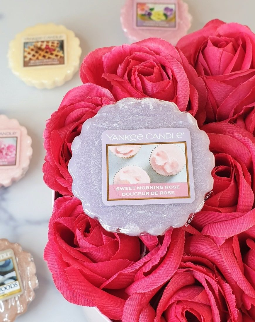 SWEET MORNING ROSE YANKEE CANDLE opinie, blog