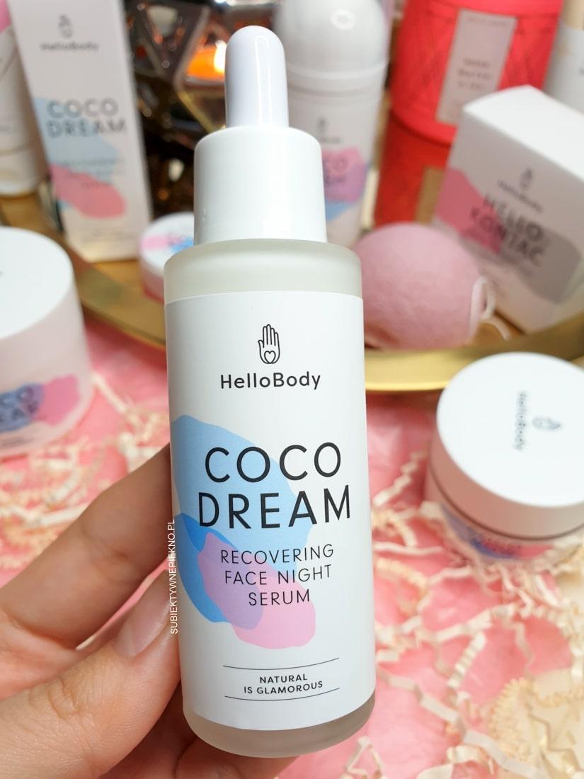 Hello Body Coco Dream serum na noc opinie, blog