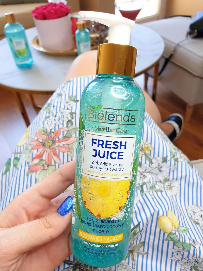 Bielenda Fresh Juice żel micelarny rozświetlający ananas opinie