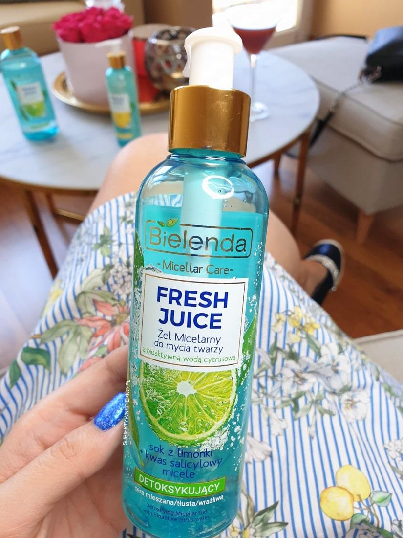 Bielenda Fresh Juice żel micelarny detoksykujący limonka opinie