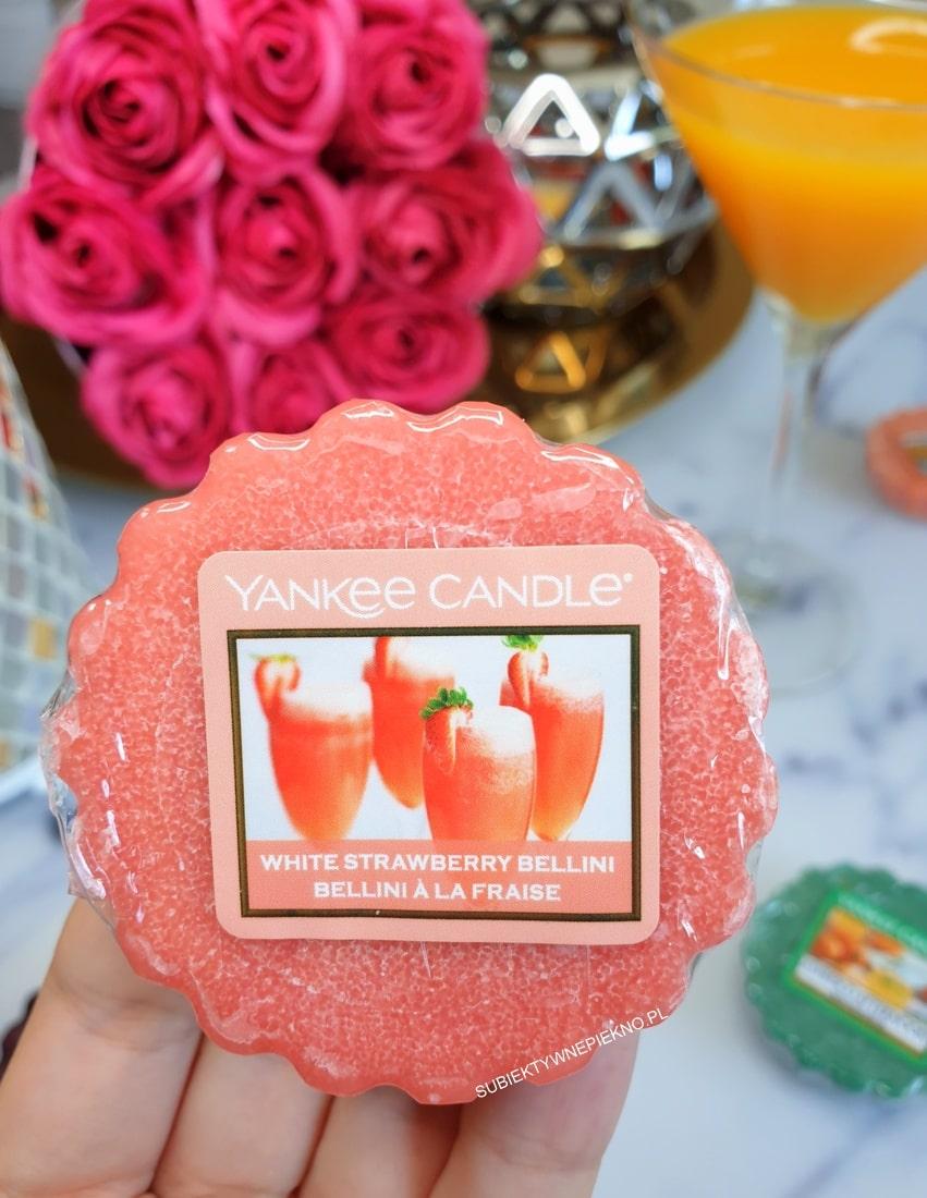 White Strawberry Bellini Yankee Candle opinie, blog