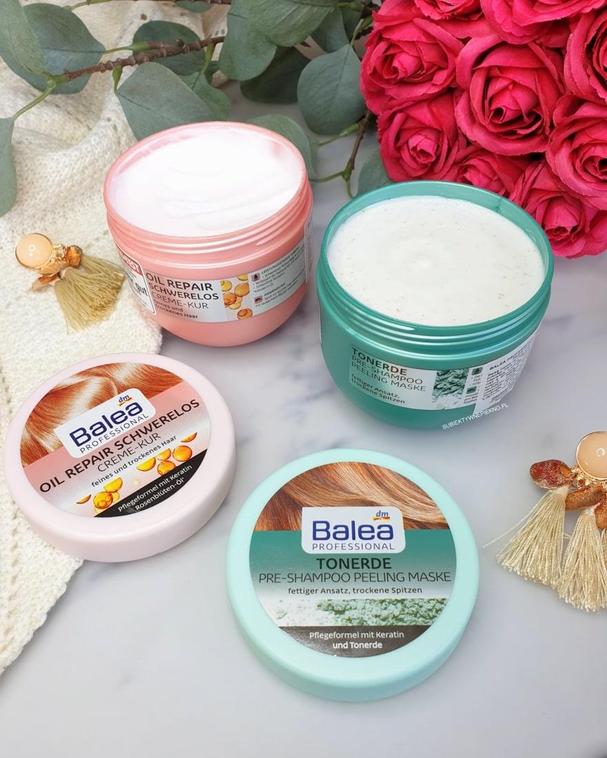 Maska Balea Oil Repair Schwerelos i peeling Balea Tonerde opinie, blog