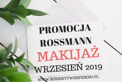 Promocja Rossmann wrzesień 2019 makijaż